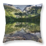 Bradley Lake Reflection - Grand Teton National Park Throw Pillow