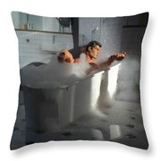 Brads Bath 1 Throw Pillow