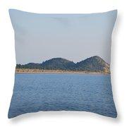 Braghini Beach Throw Pillow