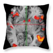 Brain Activity During Language Task, 2 Throw Pillow