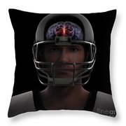Brain Injury Throw Pillow