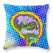 Brain Pop Throw Pillow