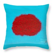 Brain Red Throw Pillow