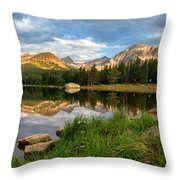 Brainard Lake Reflections Throw Pillow