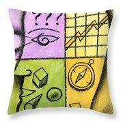 Brainstorming Throw Pillow by Leon Zernitsky