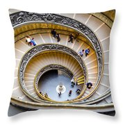 Bramante Spiral Staircase In Vatican City Throw Pillow
