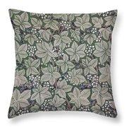 Bramble Wallpaper Design Throw Pillow by Kate Faulkner