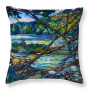 Brances Over The New River Throw Pillow