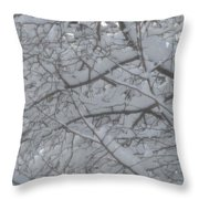 Branched Snow Throw Pillow