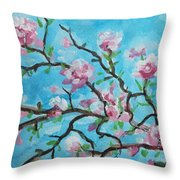 Branches In Bloom Throw Pillow