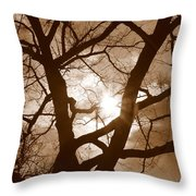 Branches In The Dark 2 Throw Pillow