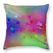 Branches In The Mist 17 Throw Pillow by Tim Allen