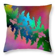 Branches In The Mist 18 Throw Pillow