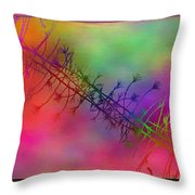 Branches In The Mist 24 Throw Pillow by Tim Allen