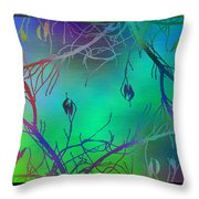 Branches In The Mist 35 Throw Pillow