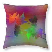 Branches In The Mist 55 Throw Pillow