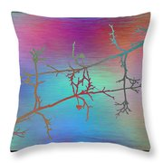 Branches In The Mist 60 Throw Pillow