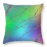Branches In The Mist 62 Throw Pillow