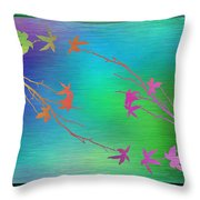 Branches In The Mist 64 Throw Pillow