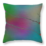 Branches In The Mist 73 Throw Pillow