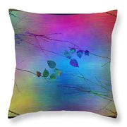 Branches In The Mist 81 Throw Pillow