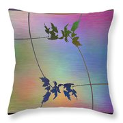 Branches In The Mist 82 Throw Pillow