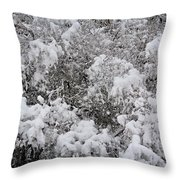 Branches Of Snow Throw Pillow