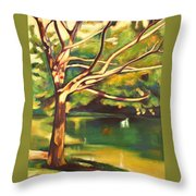 Branches Of Victoria Park II Throw Pillow