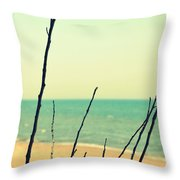 Branches On The Beach Throw Pillow