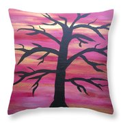 Branching Out Silhouette  Throw Pillow