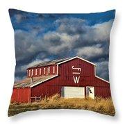 Branded Barn Throw Pillow