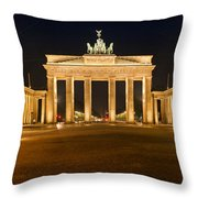 Brandenburg Gate Panoramic Throw Pillow by Melanie Viola