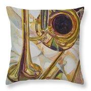 Brass At Rest Throw Pillow