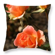 Brass Band Roses In Autumn Throw Pillow