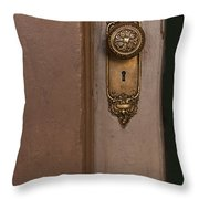 Brass Knob Throw Pillow