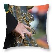 Brass Musical Instrument 01 Throw Pillow