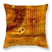 Brass Tokens Throw Pillow