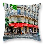 Brasserie De L'isle St. Louis Paris Throw Pillow