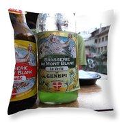 Brasserie Du Mont Blanc Throw Pillow