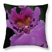 Brassolaeliocattleya Norman's Bay  Hercules Throw Pillow