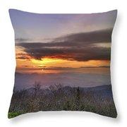 Brasstown Bald At Sunset Throw Pillow