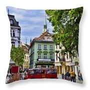 Bratislava Town Square Throw Pillow
