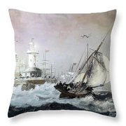 Braving The Storm Throw Pillow