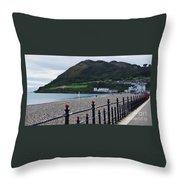 Bray Seafront, Ireland Throw Pillow