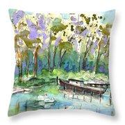 Bray Sur Seine 01 Throw Pillow