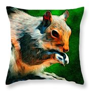 Brazen And Unrepentant Throw Pillow