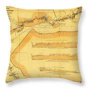 Brazil Cuiaba River 1883 Throw Pillow