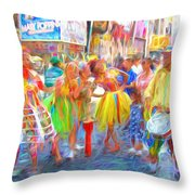 Brazil Day Colors Throw Pillow
