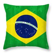 Brazil Flag Throw Pillow