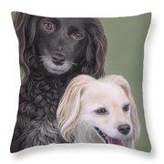 Brea And Randy Throw Pillow